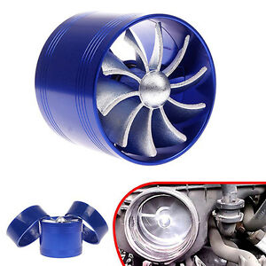 Car Single Supercharger Turbine Turbo Charger Air Filter Intake Fan Fuel Saver