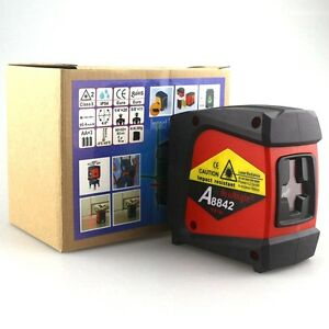 Acuangle A8842 Laser Level And Detector 635nm 360 Self leveling Rotary Red