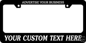 4 Custom License Plate Frames Personalized Car Tag Anything Vehicle Truck Import