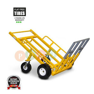 Monster Mover Commercial Dolly Heavy Duty Platform Truck 1200 Lbs Ca Flat Free