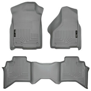 09 17 Ram 1500 Quad Extended Cab Grey Weatherbeater 1st 2nd Row Floor Liners