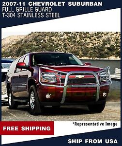 T H 1 Piece Brush Grille Guard Push Bar For 2007 2011 Chevrolet Suburban