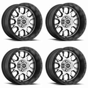 Set 4 20 Vision Gv8 Invader Black Machined Rims 20x9 6x5 5 10mm Chevy Gmc 6 Lug