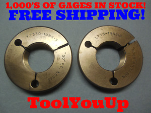 1 7330 14 Ns 3 Thread Ring Gages 1 733 Go No Go P d s 1 6866
