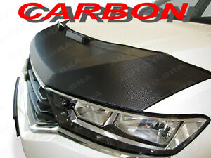 Carbon Look Car Hood Bra Fits Audi A4 Cabriolet Convertible 2002 2005 Nose Mask