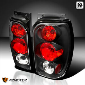 Fit 1998 2001 Ford Explorer Replacement Tail Lights Brake Lamps Black Pair