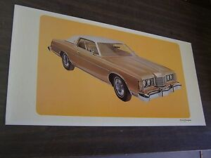 Oem Ford 1974 Ltd Brougham Showroom Poster Display