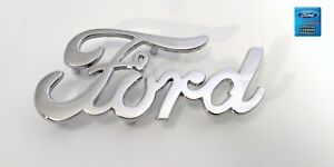 1940 Style Ford Script Die Cast Metal Emblem Original Style With Mounting Studs