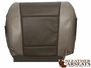 2006 2008 Ford Explorer Limited Driver Bottom Leather Seat Cover 2 Tone Gray