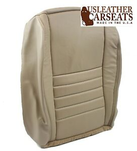 2002 Ford Mustang Gt V8 V6 Driver Side Bottom Replacement Leather Seat Cover Tan