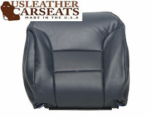 1995 1996 1997 Chevy Gmc Taho Driver Lean Back Leather Seat Cover Blue