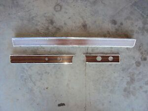 1965 Impala Lower Dash Trim Moldings Woodgrain Set