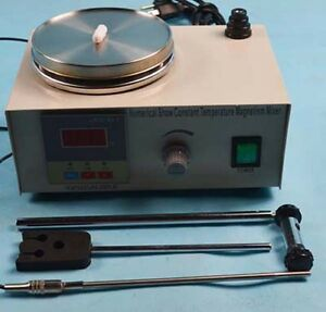 110v Electric Magnetic Stirrer With Heating Plate Hotplate Mixer Digital Display