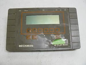 Beckman Phi 72 Ph Meter Cat Number 123144 12vdc 0 3 Amp Serial Number 260820