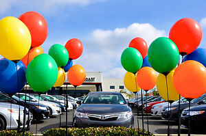 Reusable Balloon Display Kit Poles Ground Spike And 5 Balloons Included