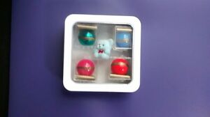 Lot Of 4 Golden Rule Marbles do Unto Others Acrylic Cat s Eye