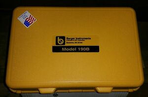 Berger Instruments 190b Level Transit With Case Berger Tripod