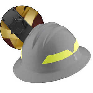 Grey Hat Bullard Wildland Fire Helmet With Ratchet Suspension