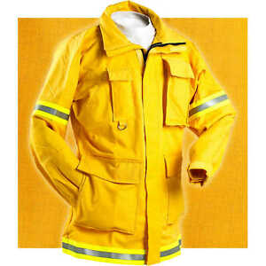 Fireline 6 Oz Nomex Iiia Firefighting Coat X large 46 48 Chest