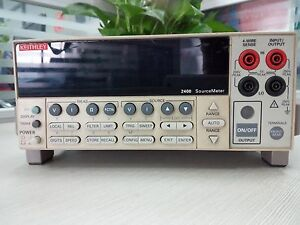 Keithley 2400 Source Meter 2 5a 250v Rating 100 240vac 190va 50 60hz Used