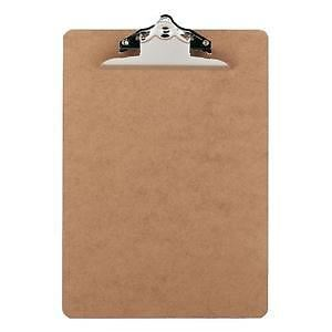 20 X Wooden A4 Wood Clipboard Hardboard With Strong Chrome Clip
