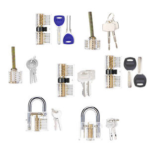Popular Transparent Visible Cutaway Practice Locks Locksmith Learning Tools Set