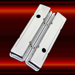 Chrome Valve Covers For Sbc Small Block Chevy 327 350 383 400 Factory Height
