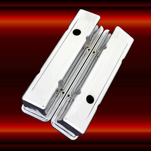Valve Covers For Sbc Small Block Chevy Engines Chrome Plated Tall Height
