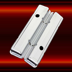 Valve Covers For Sbc 283 Sb Chevy Engines Staggered Bolt Pattern Chrome Tri 5