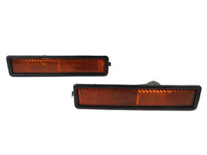 83 91 Bmw E30 3 Series L r Replacement Front Bumper Side Marker Reflector Lights