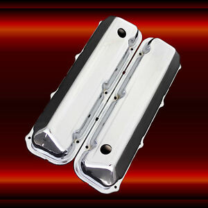 Valve Covers For Big Block Ford 429 460 Engines Chrome Factory Height