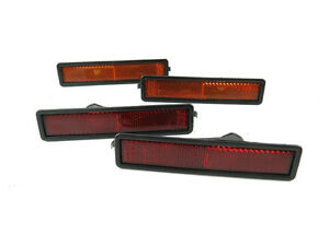 Bmw E30 3 Series Front Rear X4 Replacement Bumper Side Marker Reflector Lights