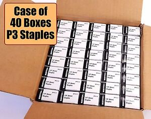 Case Of 40 Box Bostitch P3 Staples For P3 Bostitich Stapler 1 4 free Shipping