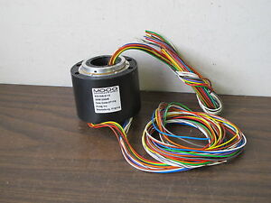Moog 459812x246 Thru Hole Slip Ring Assy 12 circuit ac4598 12 x246 new Old Stock