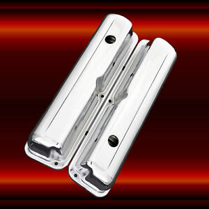 Valve Covers For F E Ford 352 360 390 427 428 Engines Chrome Factory Height
