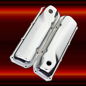 Valve Covers For Ford 351 Cleveland Engines Chrome Factory Height