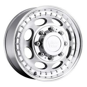 19 5 Vision 181 Hauler Duallie Machined Wheel 19 5x6 75 8x6 5 102mm 8 Lug Rim