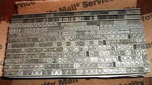 12pt Heavy Copperplate Gothic Extended No 77 Type Letterpress Printing Antique