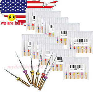 60pc Dentist Dental Endo Treatment Endodontic Taper Niti Rotary Files Sx f3 25mm