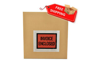 4 5 X 5 5 Invoice Enclosed Full Face Envelopes Packing Supplies 150000 Pieces