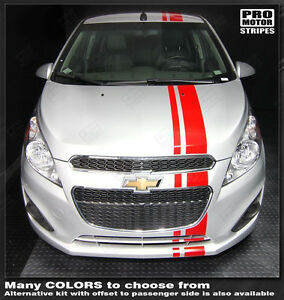 Chevrolet Spark 2013 2014 2015 Over the top Offset Stripes Decals choose Color