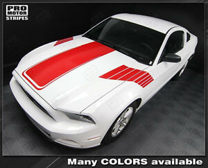 Ford Mustang 2010 2014 Hood And Side Strobe Stripes Decals Choose Color