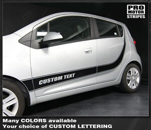 Chevrolet Spark 2013 2014 2015 Rocker Panel Side Stripes Decals choose Color
