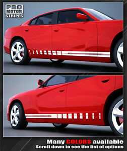 Dodge Charger 2011 2019 Rocker Panel Strobe Side Stripes Decals Choose Color