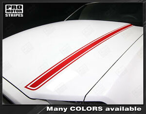 Ford Mustang 2013 2014 Hood Spear Side Accent Stripes Decals Choose Color
