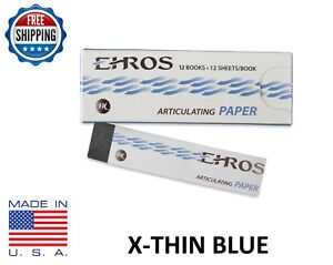 Dental Articulating Paper extra X thin 0 0015 Blue 144 Sheets Made In Usa
