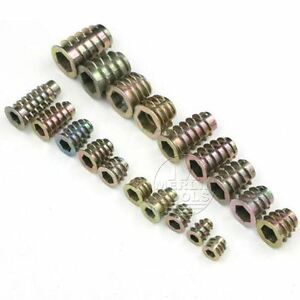 Select Size M4 M5 M6 M8 M10 Threaded Hex Drive Fixing Type D Wood Insert Nuts