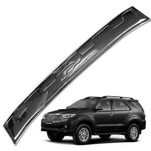 Rear Tailgate Bumper Step Cover Chrome Fit Toyota Fortuner Crusade 2015 17