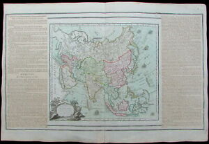 Asia Tartary China Tibet Persia Arabia Russia 1766 Brion Desnos Old Antique Map