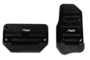 Universal Non Slip Automatic Car Vehicle Auto Brake Gas Pedals Cover Set Black